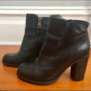 All Saints Black Leather Boots